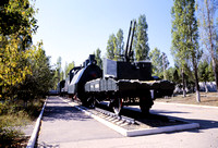 JMT32025 - Russia SZD  БИ-1942 at Saratov, Falcon Moutain Hill - 23-08-2008 - Armoured train at Aircraft Museum  - John Tolson