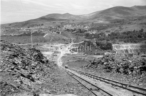 View looking down main cable incline, Penrhyn quarry 25.6.56 AEB1352