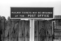 Appleford Halt, Sign 'Railway Tickets May Be Obtained At The Post Office' Appleford Halt REV 46-C-3-