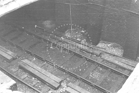View looking down in to Dock Street railway tunnel 21-12-57 GCB1294