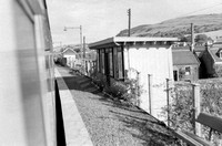 Abernethy stn looking east on it's day of closure taken from train. 17.9.55 WS440
