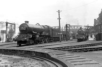 6005 and other locos, Ranelagh Rd depot 31/8/57 RCR11160