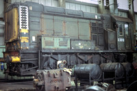 GHT3884 - UK BR Class 08, D3019 at Inside Canton  Cardiff - 01-07-1978 - Green livery Fron industry for repair   - Builder Derby 1953  - G H Taylor