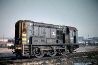 GHT3888 - UK BR Class 08, 3965 at Old Oak Common - 28-10-1973 - Builder Derby 1960  - G H Taylor