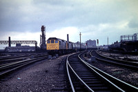 GHT3893 - UK BR Class 25, 5240 at Manchester Victoria - 07-08-1971 - With 5251 on 1M12 0820 Leicester to Blackpool  - Builder Derby 1964  - G H Taylor