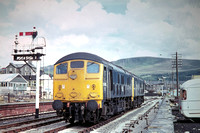 GHT4066 - UK BR Class 24, 24082 at Barmouth - 15-06-1975 - with 24057  - Builder Crewe 1960  - G H Taylor