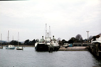 GHT6412 - UK  Class Ferry,  at Lymington - 03-12-1977 -   - Builder Freshwater' Freshwater'  - G H Taylor