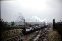 GHT8659 - UK Industrial   at Quorn - 23-03-1974 - Departing train 9rear view) heading for Loughborough  - G H Taylor
