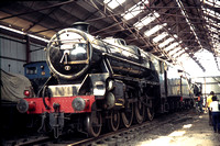GHT8667 - UK LMS  5231 at Loughborough - 07-07-1975 - Inside shed (now with roof & walls!)  - Builder AW 1286-1936  - G H Taylor