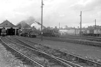 5098 Carmarthen shed view with  4965 + other locos (Saturday) 1962 AG151-2