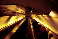 TD20011060 - Serbia JZ   at Beograd - 23-09-2001 - Escalator from deep level platforms - Trevor Davis