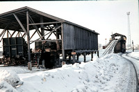 TDF150 - Finland VR   at Kemi - 20-02-1975 - Wooding plant (as opposed to coaling plant) - Trevor Davis