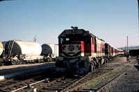 JMT13134 - Morocco ONCF Class DH, DH.373 at Taza - 12-12-1982 - Arrives on Oujda to Fez train  - Builder EMD  - John Tolson