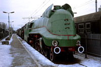 JMT19598 - Poland PKP Class Pm3, Pm3-3 at Warsaw, Glowna - 17-02-1993 - Preserved at Ry.Museum  - Builder Borsig 14926-1940  - John Tolson