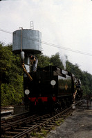 GHT9447 - UK BR Class Std, 34016 at Ropley - 17-07-1983 - Takes water  - Builder Brighton 1945  - G H Taylor