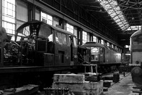 D8612 & D1971 inside Perth workshop 1960s GCB622