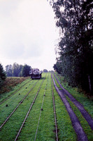 JMT23780 - Poland    at Olesnica - 05-09-2001 - Inclined plane on Elblag to Ostroda canal-'trains' pass  - John Tolson