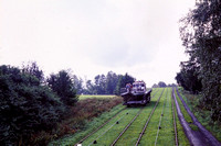 JMT23781 - Poland    at Olesnica - 05-09-2001 - Inclined plane on Elblag to Ostroda canal-'trains' pass  - John Tolson