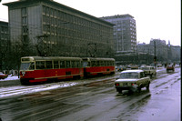 GHT12497 - Poland  Class Tram - Tram , 282 at Warsawa - 07-12-1981 - Builder   - On route 2  - GH Taylor
