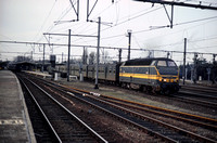 SNCB Belgium Railways Diesel Locomotive 6302 on 12-04-1985 at Bruges -  BN-ACEC 1961-6 - Henry Finch- HF-N1928