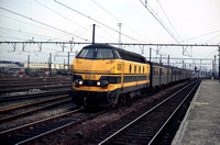 SNCB Belgium Railways Diesel Locomotive 6306 on 12-04-1985 at Bruges -  BN-ACEC 1961-6 - Henry Finch- HF-N1922