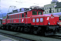 OBB Austria Railways Electric Locomotive Class 1020,1020 15 at Innsbruck -  in 1983 - 08-83- James Winkley - JW0085