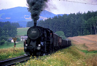 OBB Austria Railways Steam Locomotive Class 52,52 6288 at Summerau Line -  in 1971 - 08-71- James Winkley - JW0092