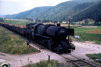 OBB Austria Railways Steam Locomotive Class 52,52 7061 at Summerau Line -  in 1971 - 08-71- James Winkley - JW0094