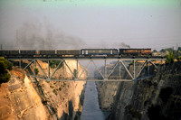 OSE Greece Railways Diesel Locomotive  at Corinth Canal -  in 1985 - 09-85- James Winkley - JW0191