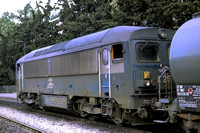 OSE Greece Railways Diesel Locomotive A257 at Athens -  in 1985 - 09-85 From Piraeus- James Winkley - JW0201
