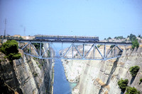 OSE Greece Railways Diesel Railcar  at Corinth Canal -  in 1985 - 08-85- James Winkley - JW0171