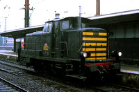 SNCB Belgium Railways Diesel Locomotive 8062 at  -  in 1977 - - James Winkley - JW0308