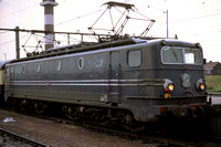 SNCB Belgium Railways Electric Locomotive 1307 at  -  in 1977 - - James Winkley - JW0313