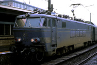 SNCB Belgium Railways Electric Locomotive 1907 at  -  in 1977 - - James Winkley - JW0326