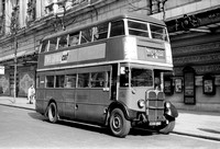 LT double-decker STL1430 CXX150 outside Stoll Theatre 22/3/50