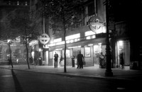 Holborn underground stn exterior at night 16/10/50