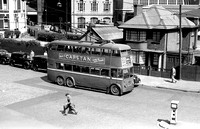 Trolleybus in street Kings Cross 9/53