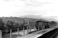 Bontnewydd stn running-in board and waiting shelter 1/9/58