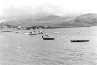 Barmouth bridge view with 2 x L/E crossing 6/9/58