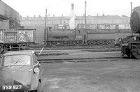SM159 65288 (J36) Dunfermline shed (bubble-car in view)