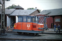 JMT3834 - Sweden SJ Class Z, 74 at Kil - 01-09-1979 - Pw vehicle at shed  - John Tolson