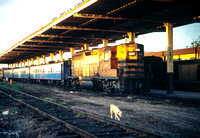 JMT6477 - Mexico SBCRR  2106 at Los Mochis - 18-11-1993 - On 07.00 Los Mochis to Chihuahua.(loco became FNM 7037)  - Builder EMD 1976  - John Tolson