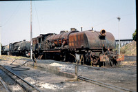 JMT8773 - Zambia ZR Class 16A, 622 at Livingstone - 05-08-1993 - Derelict at shed  - Builder BP 7499-1952  - John Tolson