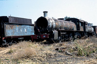 JMT8766 - Zambia ZR Class 12th, 176 at Livingstone - 05-08-1993 - With 186. Derelict at shed  - Builder NBL 23377-1926  - John Tolson