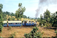 BW1165 - India CR Class ML, 738 at Neral to Matheran - 10-11-1975 - Lineside of train en route  - Builder OK 1766-1905  - Brian Walker