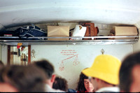 BW1164 - India CR   at  - 10-11-1975 - Inside coach read Do not crowd on one side of the coach it is dangerous  - Brian Walker