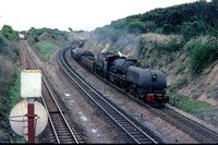 BW2895 - Rhodesia RR Class 15th, 403 at Westgate (Bulawayo) - 07-11-1978 - Passes on freight  - Builder BP 7355-1950  - Brian Walker